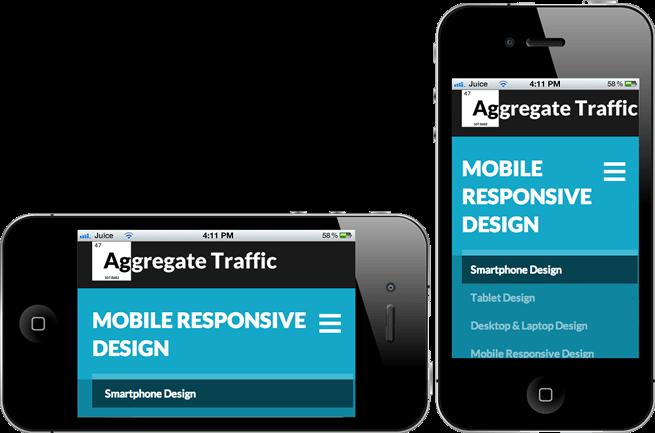 Mobile Responive Design on smartphone